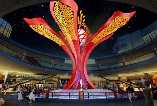河源坚基购物中心雕塑 —《幸福之花》