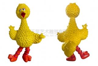 芝麻街卡通雕塑 大鸟 甜饼怪 艾摩